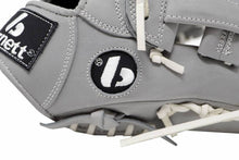 Load image into Gallery viewer, FL-117 high quality baseball and softball glove, leather, infield / fastpitch 11.7, light grey