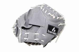 FL-203  softball glove, high quality, leather, catcher, light grey