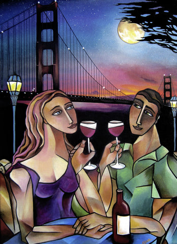 Golden Gate Romance Mini-Giclee