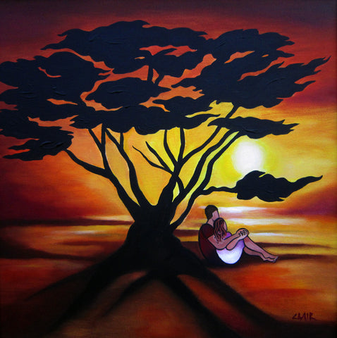 Sunset Silhouette mini-giclee