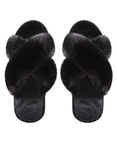 Slippers - Beverly fur plush