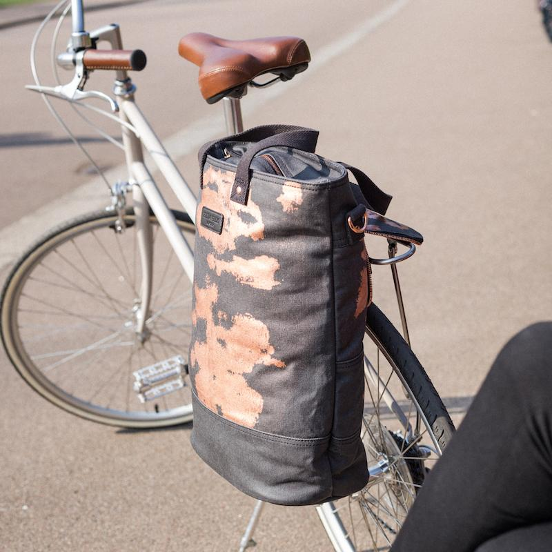 Canvas pannier cycle bag collection