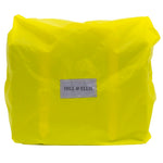 Yellow Waterproof cover for a leather bike bag