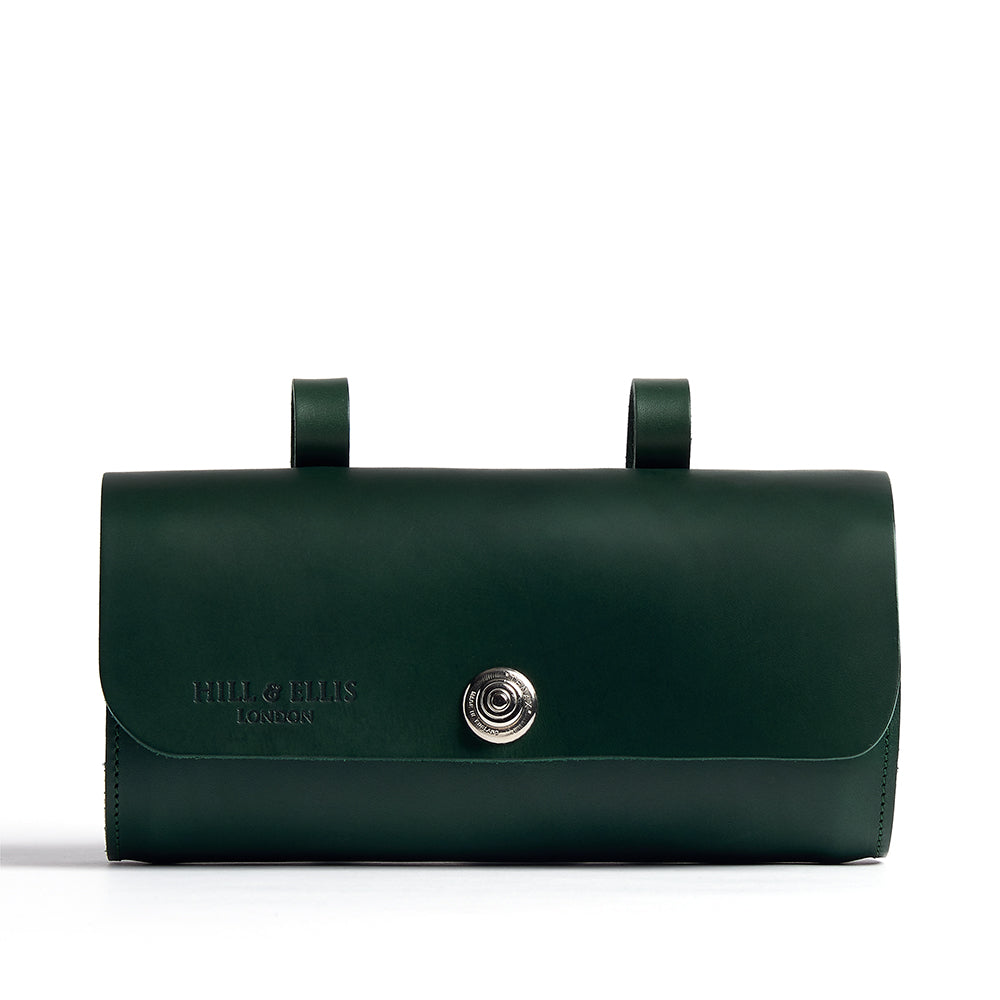 Green saddle bag front