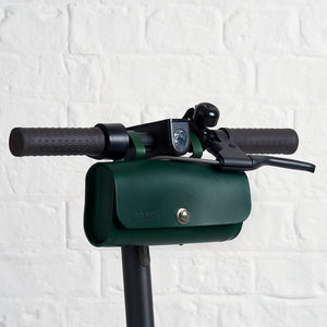 Green Saddle Bag on scooter