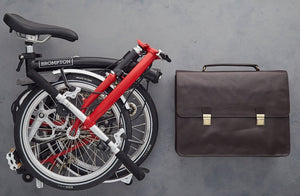 Winston Leather Cycling bag for the Brompton bicycle