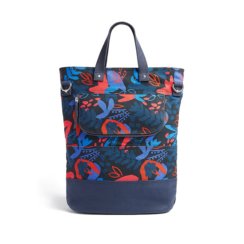 Load image into Gallery viewer, Hill and Ellis Ada floral print canvas cycling bag back