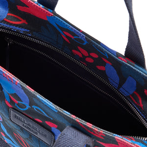 Hill and Ellis Ada floral print canvas cycling bag inside