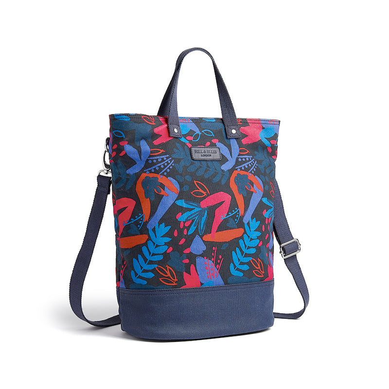 Hill and Ellis Ada floral print canvas cycle bag with shoulder strap