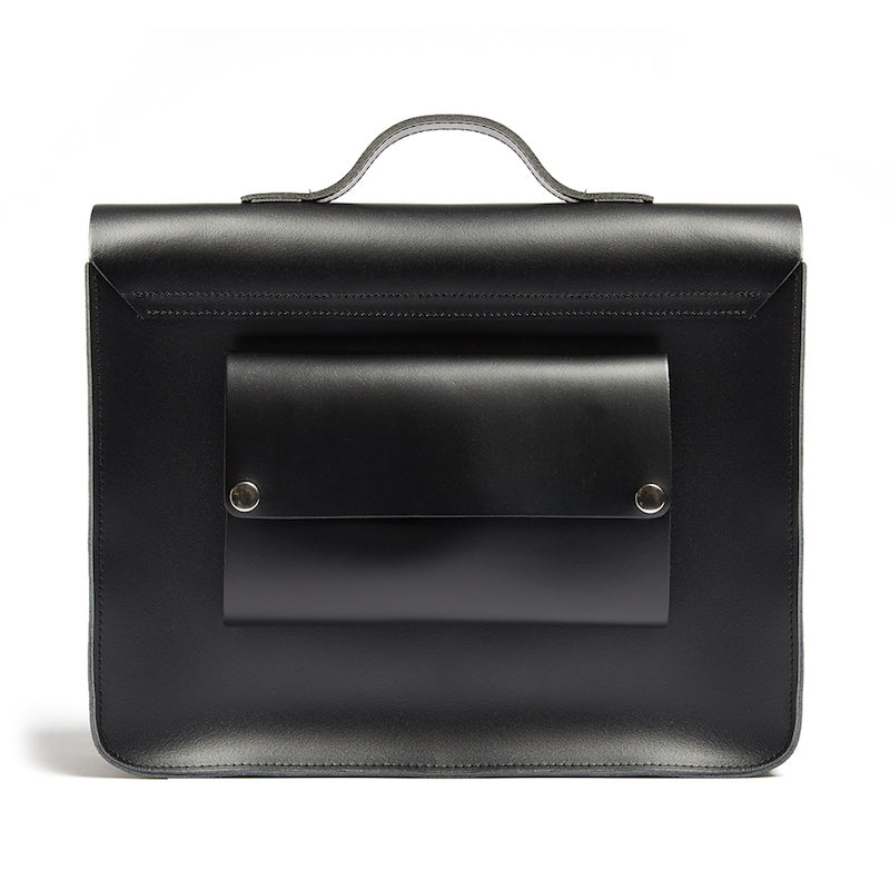 Black satchel cycle bag back