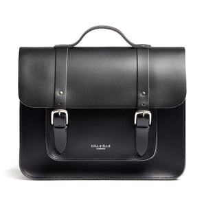 Black satchel cycle bag front