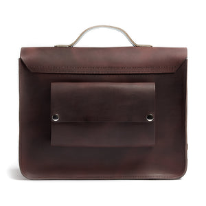 Hill and Ellis Don cycling bag brown mint satchel back