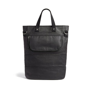 Hill and Ellis Dylan Black canvas cycle bag back