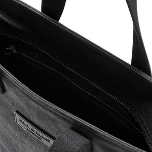 Hill and Ellis Dylan Black canvas cycle bag inside