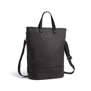 Hill and Ellis Dylan Black canvas cycle bag with shoulder strap