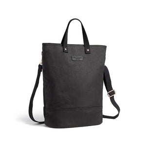 Black and copper canvas cycling bag with shoulder strap