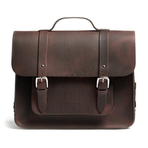 Hill and Ellis Freddie satchel cycle bag in brown