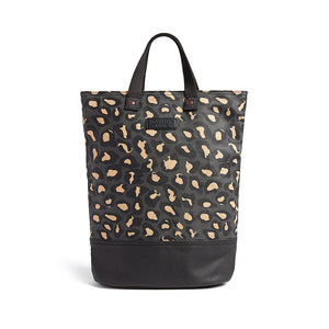 Leopard print canvas cycling bag
