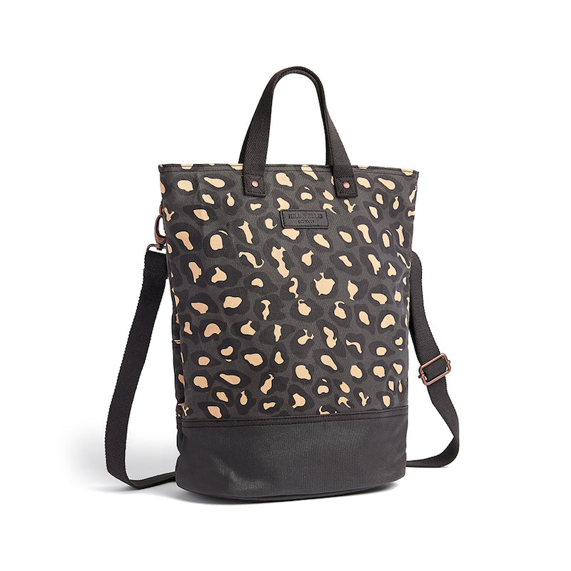 Load image into Gallery viewer, Leopard print canvas cycling bag with shoulder strap