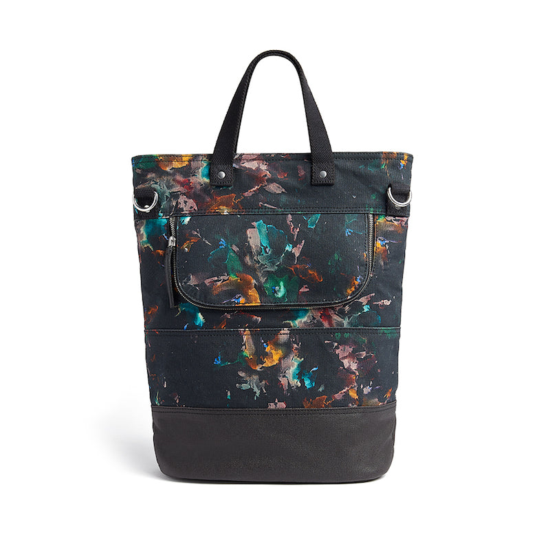 Lily floral print canvas cycling bag back