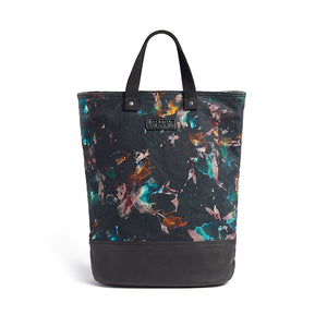 Floral print canvas cycling bag front