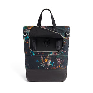Lily floral print canvas cycling bag pannier hooks