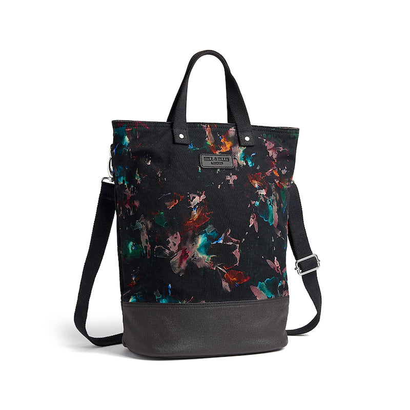 Lily floral print canvas cycling bag with shoulder strap