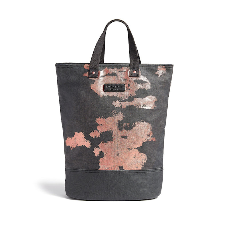 Charcoal & Copper Canvas Cycling Bag