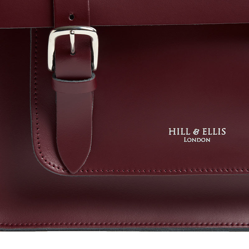 Limited Edition Burgundy Cycle Bag with brass buckles detail