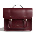 Limited Edition Oxblood Red Satchel Cycle Bag with Brass Metalware