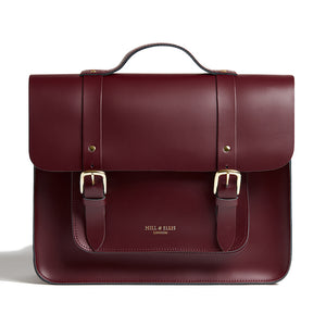 Limited Edition Burgundy cycle bag with brass buckles