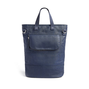 Navy canvas cycling bag front