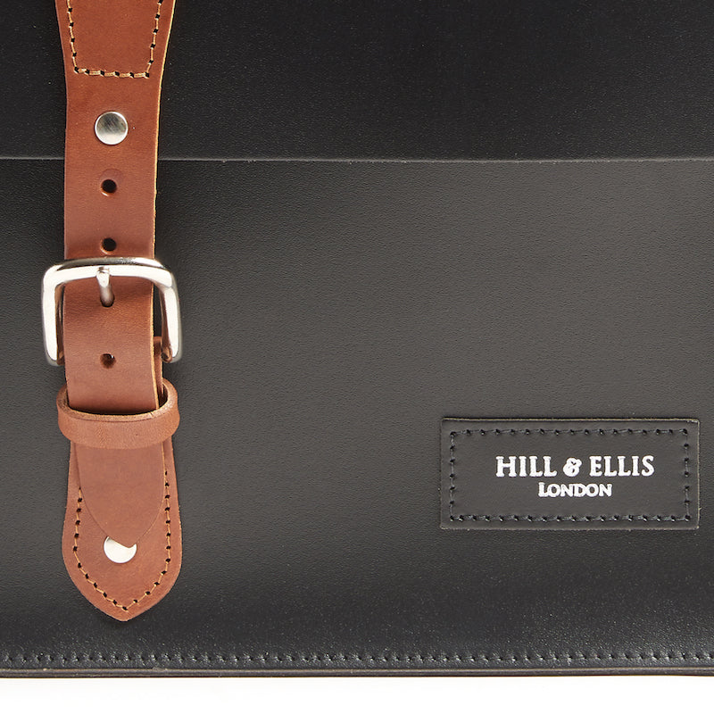 Hill and Ellis earl brompton compatible cycle bag detail