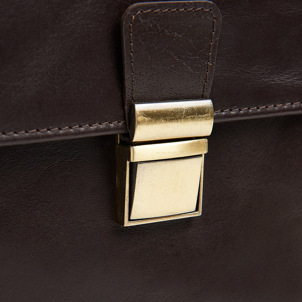Load image into Gallery viewer, Winston Leather Cycling bag for the Brompton bike detail