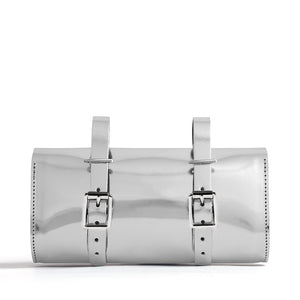 Silver saddle bag back