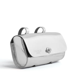 Silver scooter bag side on