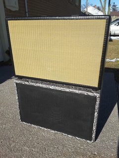"""Two custom 1x12"""" cabinets stacked on top of each other - Front view"""
