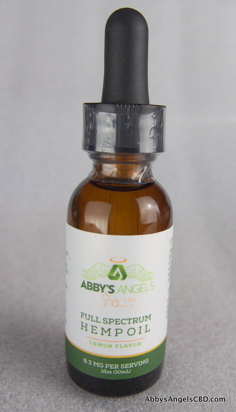 Lemon Flavor - 1000 MG 1 oz CBD Tincture Oil