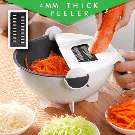 Multi-Functional Kitchen Food Chopper With Drain Basket