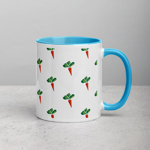 "24 ""Carrot"" Mug - Omnivore Meats, Seattle Washington, Food Business, Grass Fed Beef blended with Vegetables Pacific Northwest Food Company. Allergen free, non-gmo, plant based, minimally processed"