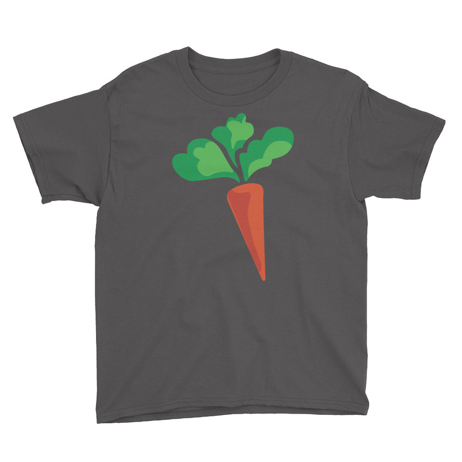 Youth Unisex Short Sleeve T-Shirt - Omnivore Meats, Seattle Washington, Food Business, Grass Fed Beef blended with Vegetables Pacific Northwest Food Company. Allergen free, non-gmo, plant based, minimally processed