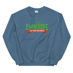Unisex Sweatshirt - Omnivore Meats, Seattle Washington, Food Business, Grass Fed Beef blended with Vegetables Pacific Northwest Food Company. Allergen free, non-gmo, plant based, minimally processed