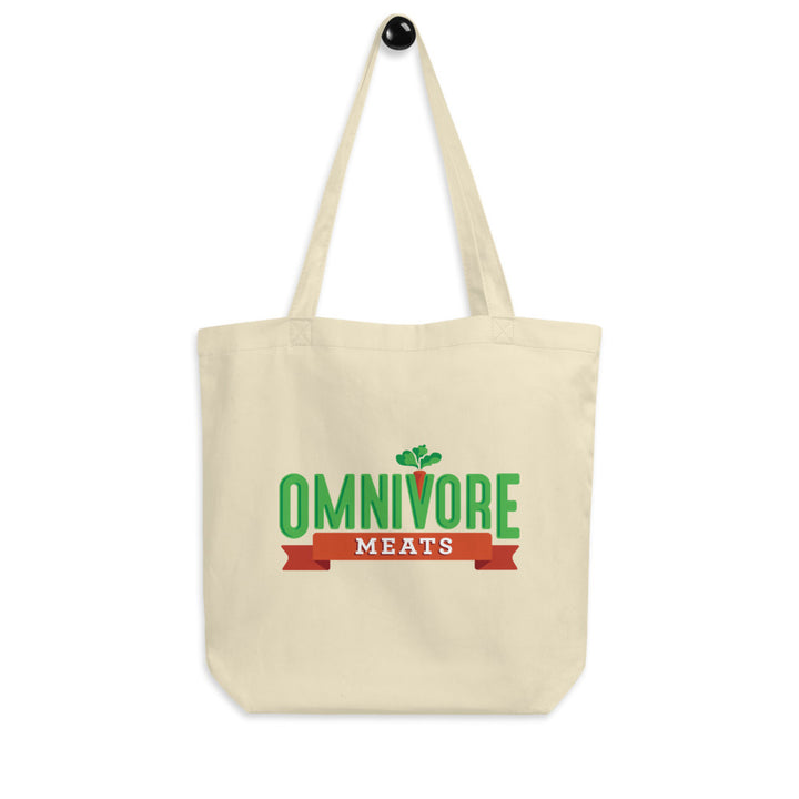 Omnivore Meats Eco Tote Bag - Omnivore Meats, Seattle Washington, Food Business, Grass Fed Beef blended with Vegetables Pacific Northwest Food Company. Allergen free, non-gmo, plant based, minimally processed