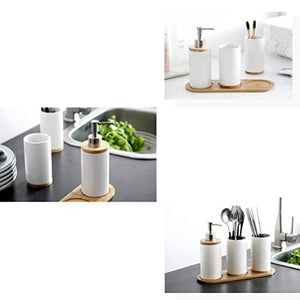 """Mod Squad"" 4 Piece Ceramic Bathroom Accessories Set"