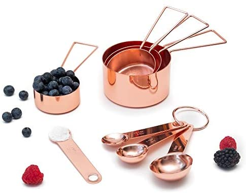 Metallic Measuring Cups and Spoons Set