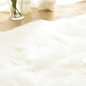 """Nordic Dream 2"" Faux Sheepskin Rug"