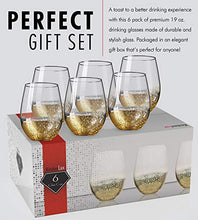 "Load image into Gallery viewer, ""Goldie"" Stemless 6-Piece Wine Glass Set"