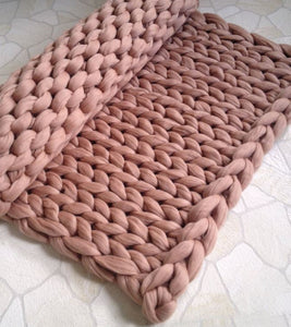 """Jumbo Knit"" Wool Blanket"