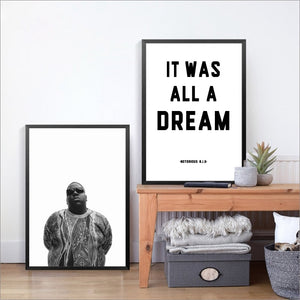"""Christopher Wallace"" Notorious B.I.G Lyric Print"