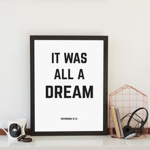 "Load image into Gallery viewer, ""Christopher Wallace"" Notorious B.I.G Lyric Print"